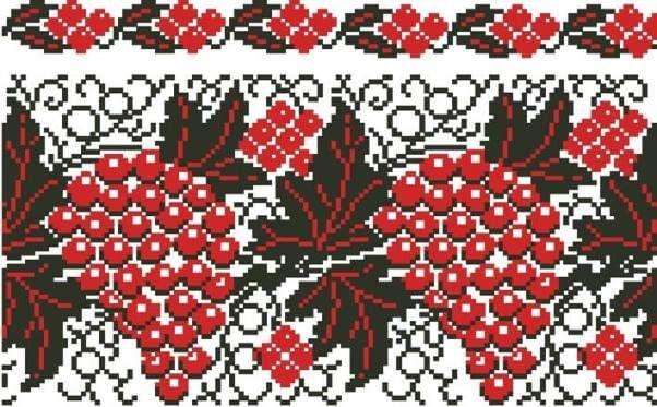 вышивка виноград