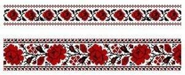 Вышивка украинские розы