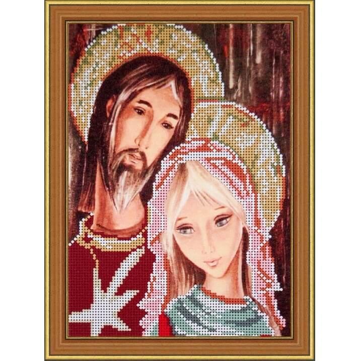 Схема для вышивания бисером Иисус и Мария 425d19e0e8a03
