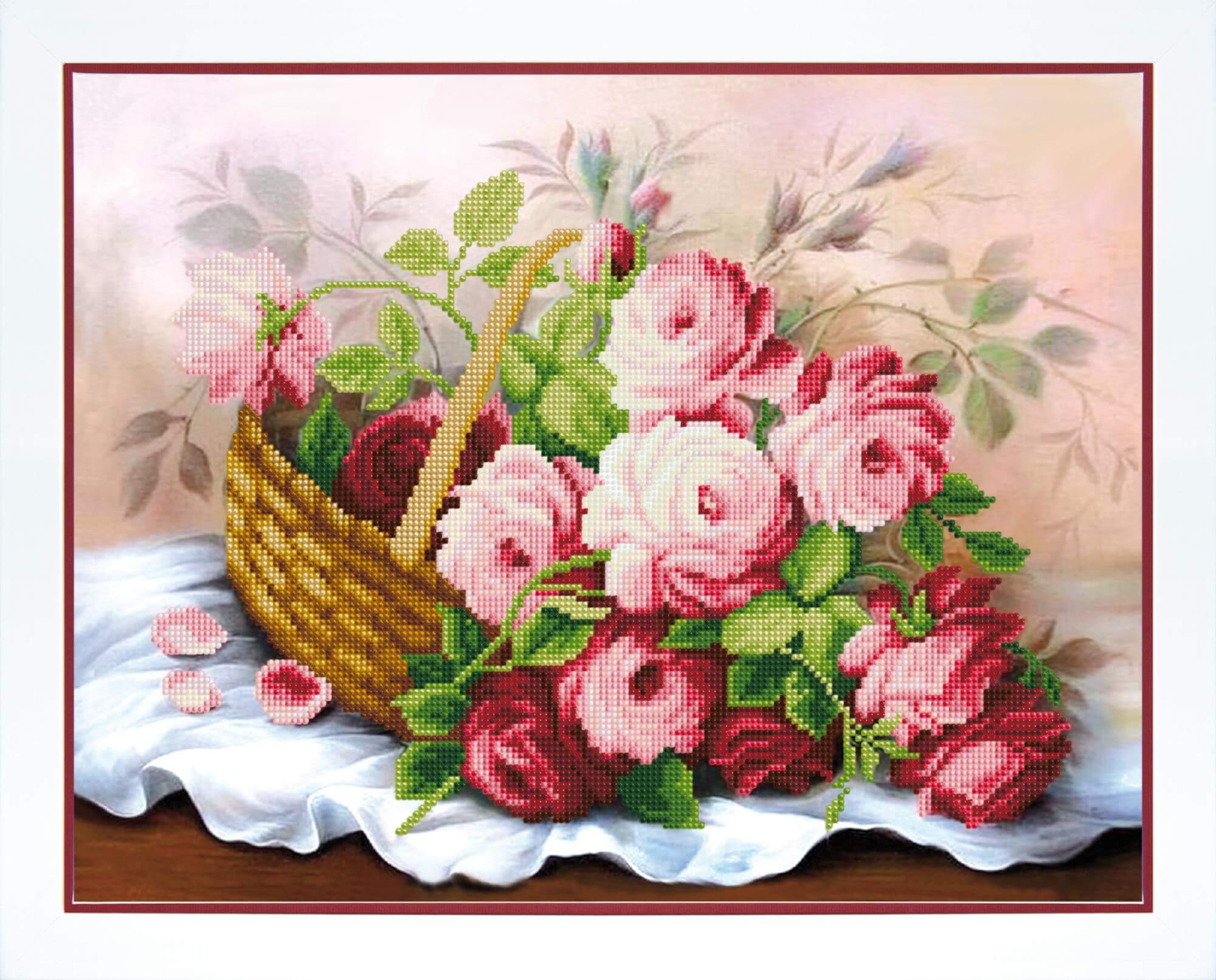 Поздравления красивые, розы в корзине картинки нарисованные