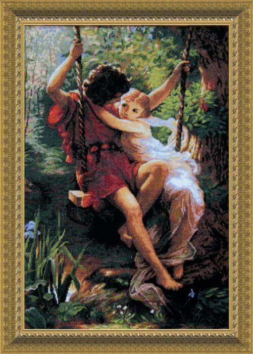 Вышивка с репродукции картины 845