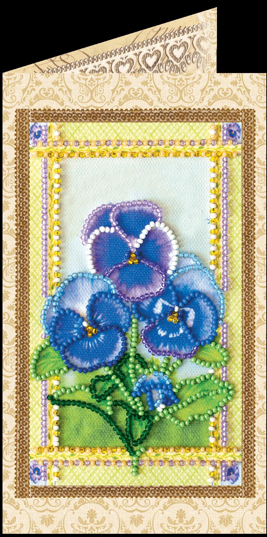 Щенок цветком, вышивка открытки бисером