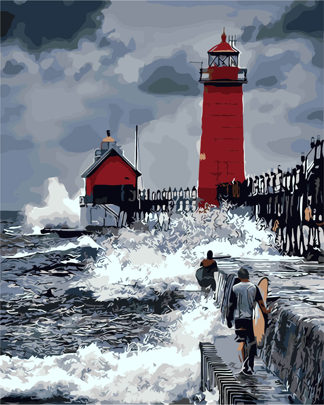 lighthouse porthcawl pier huge - 650×960
