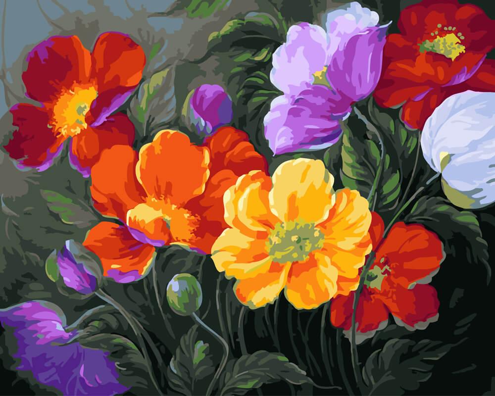 картинки для пазлов с цветами они