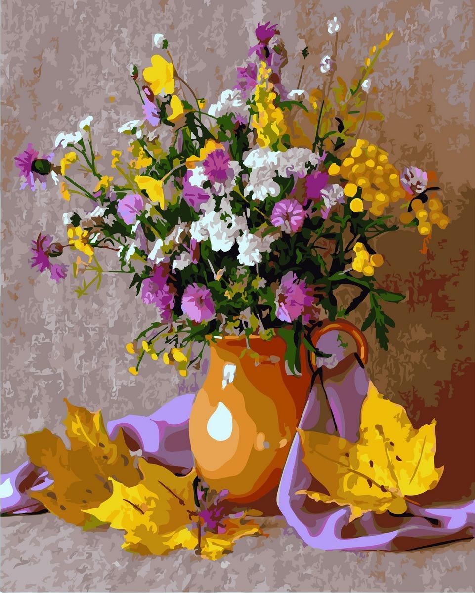 Картинки ваза с цветами осени