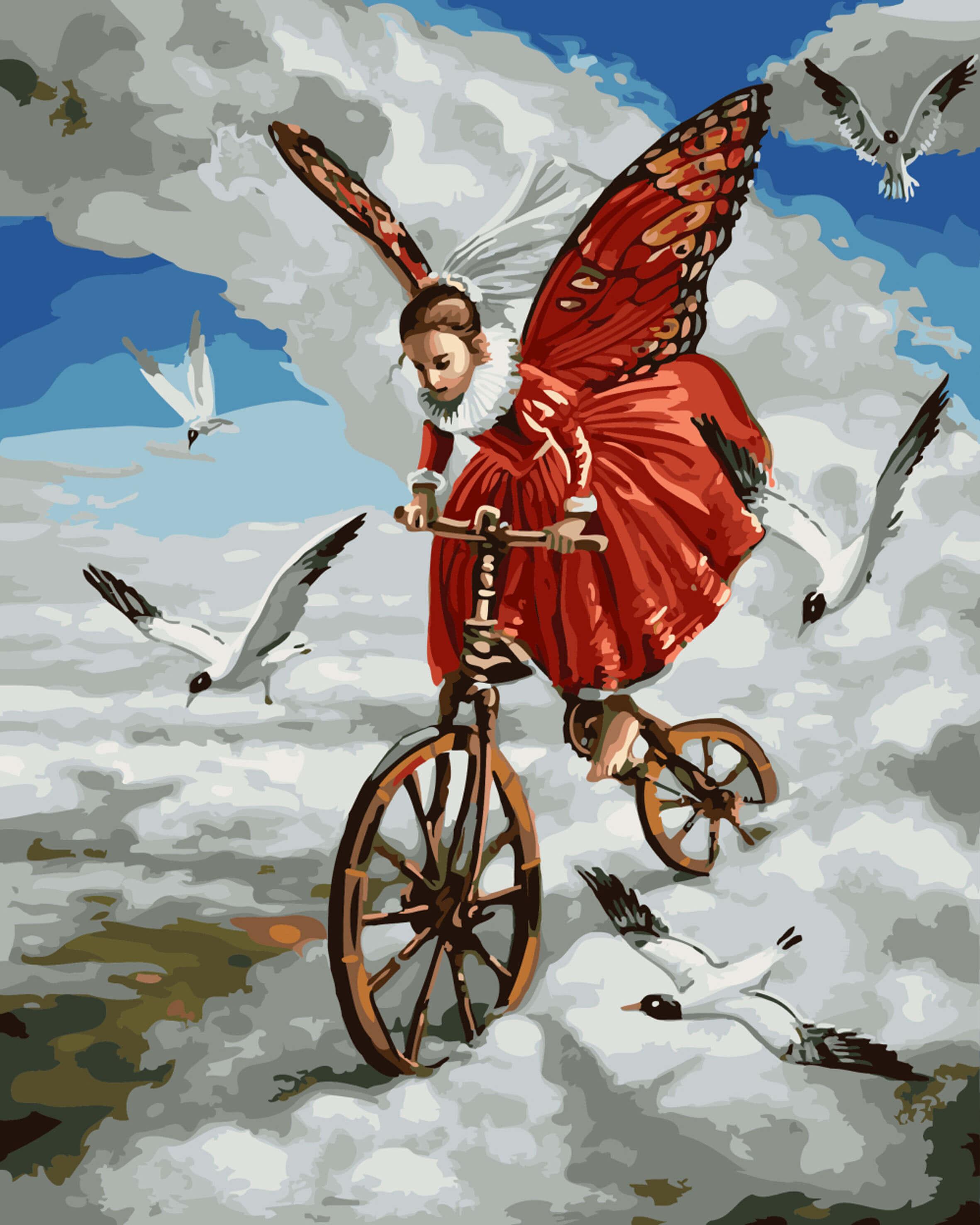 Картинки, открытка на крыльях счастья