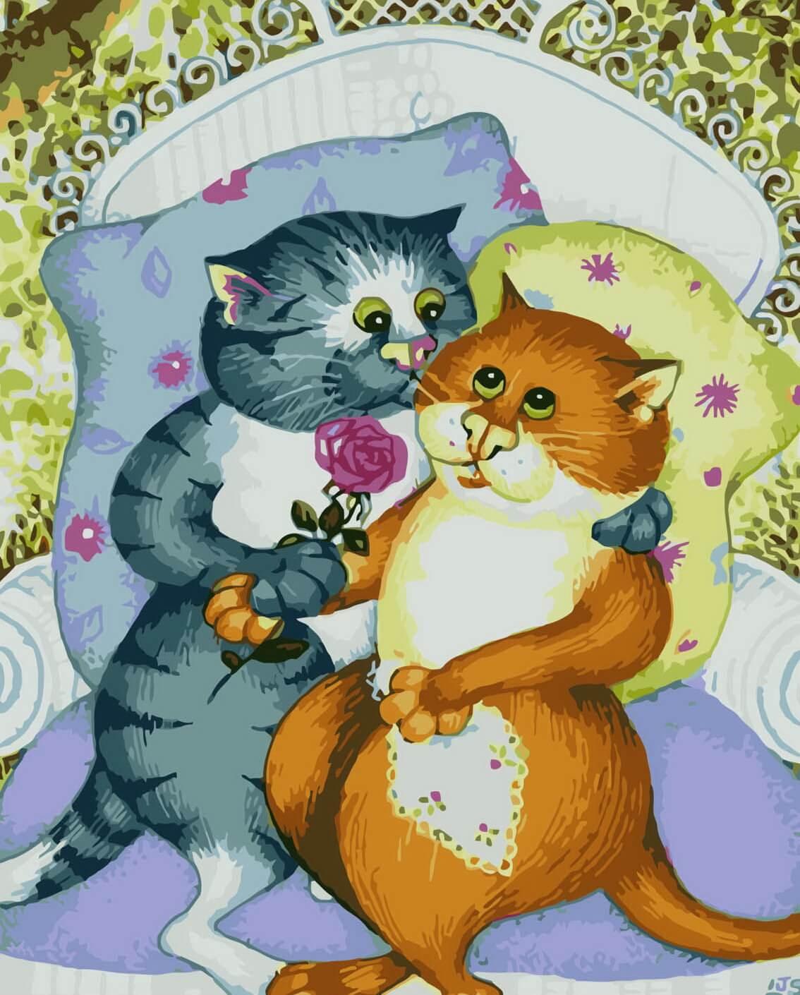 Открытки с кошками обнимаю