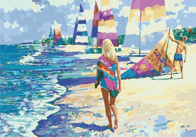 Картины-раскраски по номерам для начинающих, купить