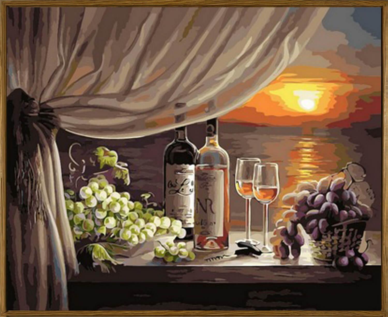 Сентября, открытка с добрым вином