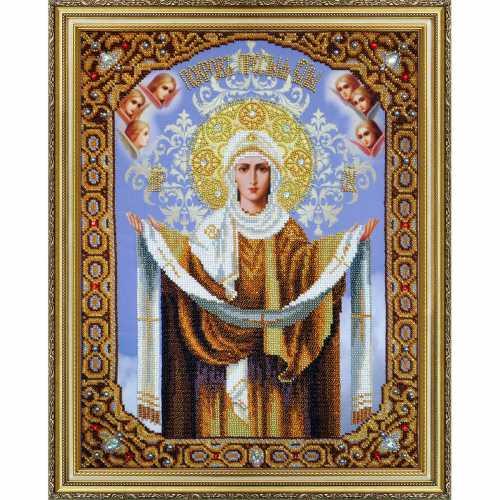 Вышивка бисером икон богородиц