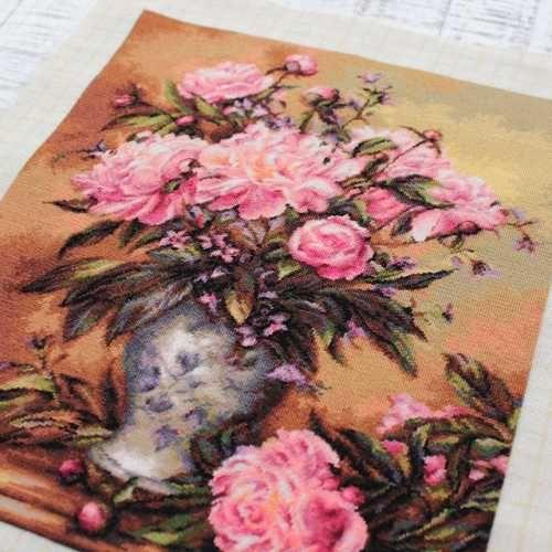 Вышивка крестом корзина с розами b547