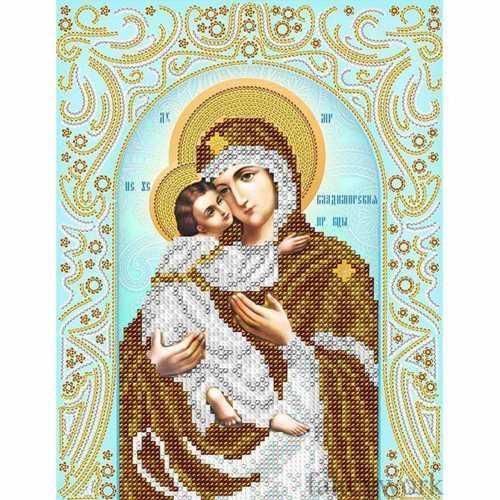 Владимирская божья матерь вышивка бисером 187