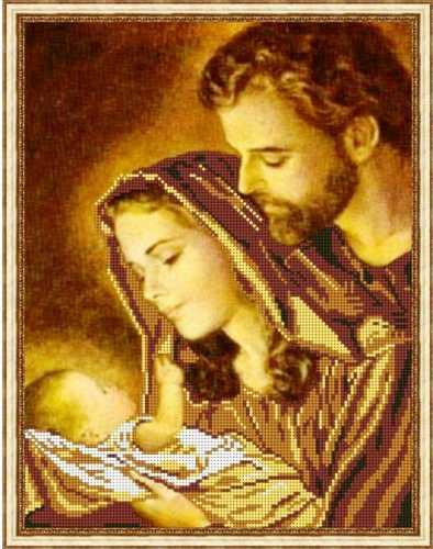 Схема для вышивания бисером Святое Семейство-4 1bed5b19a7089