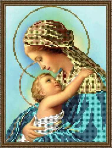 Схема для вышивания бисером Богородица Дева Мария с Иисусом 0d7903d17355c