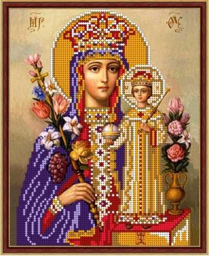 Схема для вышивания бисером Пр. Богородица Неувядаемый цвет fd363fdd232b3