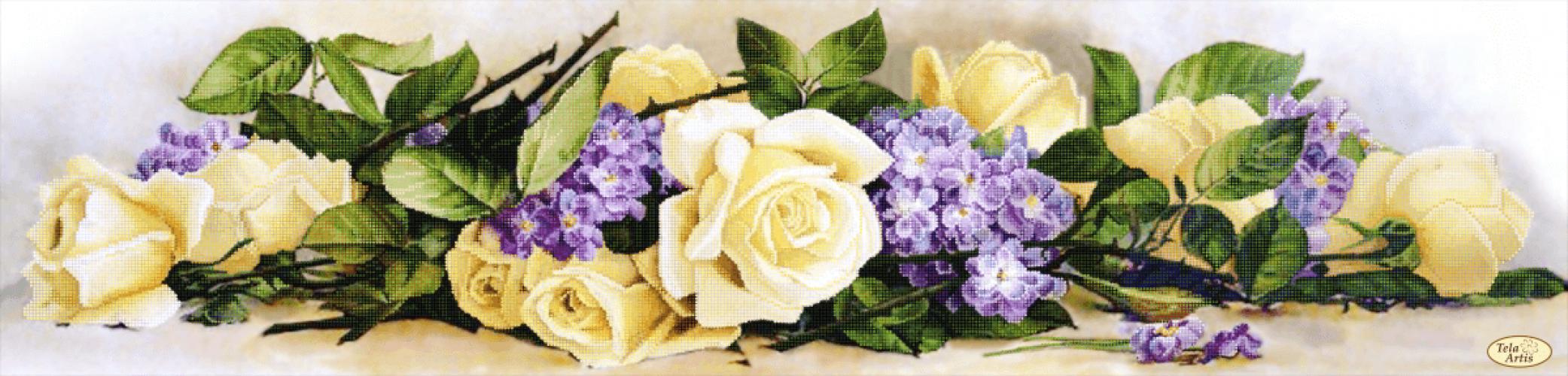 Салфетка с розами вязание