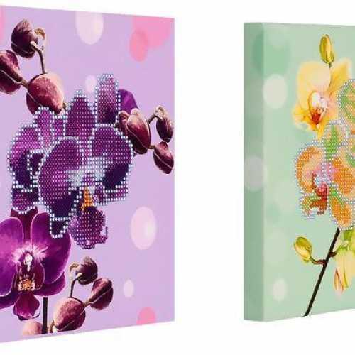Схема вышивка бисер орхидея 602