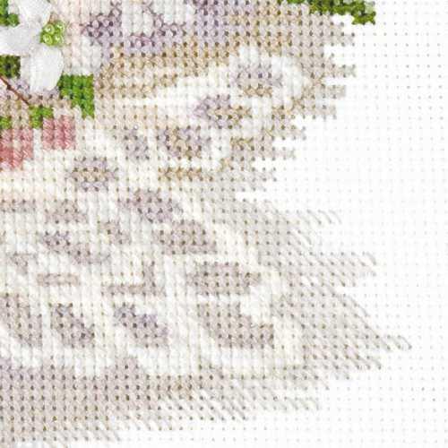 Вышивка крестом вишневый цвет