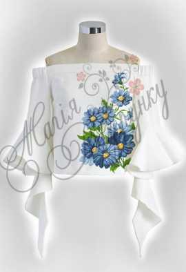 Женская летняя блузка для вышивки бисером или нитками на габардине 591e3e0f1a1f1