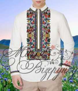 Мужская сорочка для вышивки нитками или бисером на домотканном полотне feb27ce9437d2